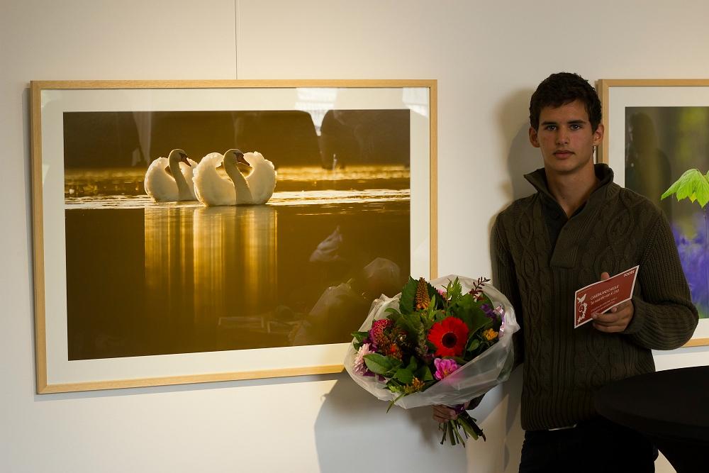 Jacob Kaptein met de winnende foto