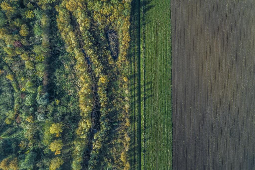 Drone beelden van voedselbos ketelbroek in Zuidoost-Nijmegen.